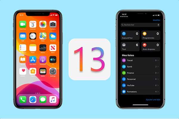 Principales nouveautés iOS 13
